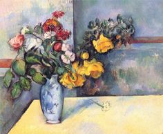 """""""Still Life Flowers in a Vase""""  Paul Cezanne"""