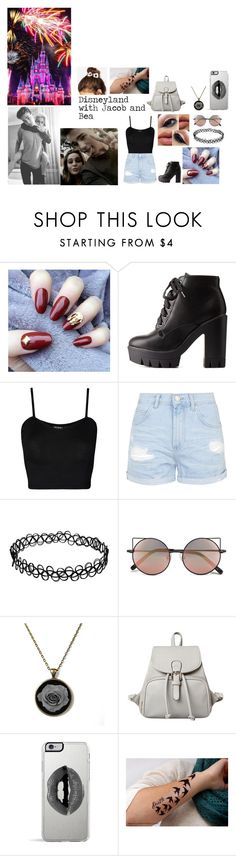 """""""Disneyland with Bea & Jacob"""" by loved-by-tomlinson ❤ liked on Polyvore featuring moda, BEA, Charlotte Russe, WearAll, Topshop, Linda Farrow, Disney, Lipsy, ASOS y jacobandbeaonsoundcloud"""