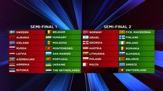 Die Länder wurden in die Semifinale ausgelost - http://www.eurovision-austria.com/die-laender-wurden-in-die-semifinale-ausgelost/