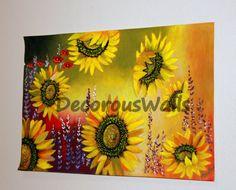 Sunflower Garden by DecorousWalls on Etsy