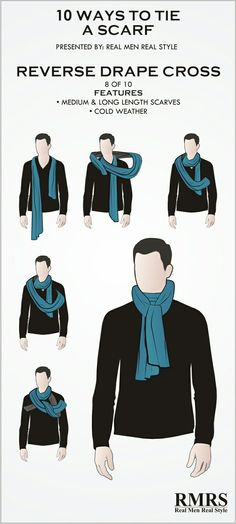 How to wear a scarf men neck scarves for 2019 - Men's style Ways To Wear A Scarf, How To Wear Scarves, Wearing Scarves, Scarf Knots, Tie Knots, Ideas Bufanda, Real Men Real Style, Mode Costume, Neck Scarves