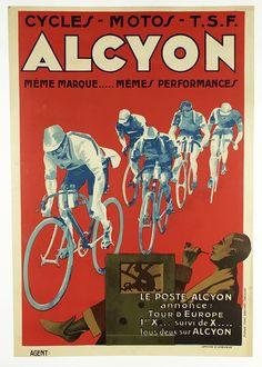 Alcyon - Original Vintage Bicycle Poster - Cycling | eBay