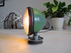 Antique John Deere Tractor Lamp
