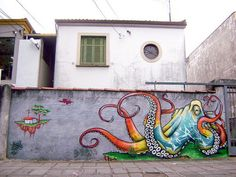 Awesome Octopus Graffiti. It so much reminds me of the bright graffiti of Brazil that I love so much. I hope it is indeed from Brazil.