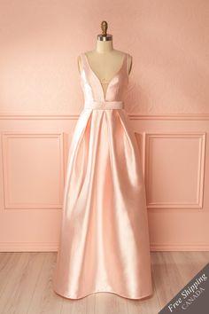 Ranya Douceur Light Pink Silky Maxi Gown | Boutique 1861