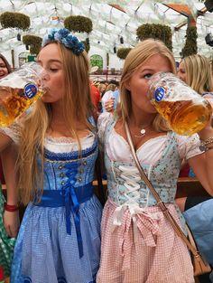 Dresses for Women Beer Festival Outfit, Festival Costumes, Festival Outfits, German Girls, German Women, Octoberfest Girls, Festivals, Beer Maid, Oktoberfest Outfit