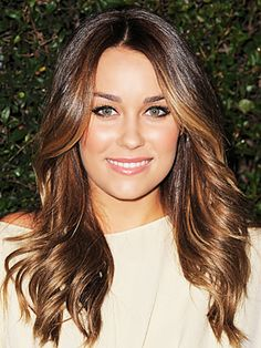lauren conrad brunette face framing highlights