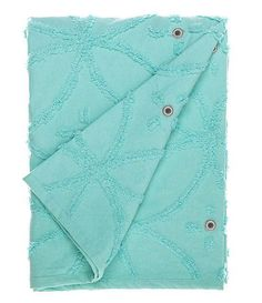 Turquoise Summer Chenille Throw