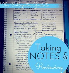The Collegiates Guide to Taking Notes. - Mostly Morgan
