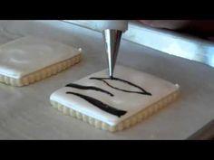 Zebra Print Cookie Tutorial by Sweet Sugarbelle