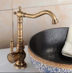 fashion Europe style high quality ORB finished art carved cold and hot single lever bathroom sink faucet basin faucet