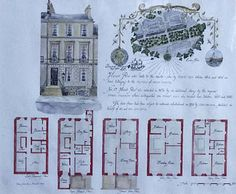 The plan for 17 Heriot Row - family home of Robert Louis Stevenson Robert Louis Stevenson, Hyde, Author, Edinburgh, Teaching Ideas, Places, Travel, Viajes, Writers