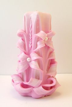 Carved wedding candle by NatalyStep on Etsy, $22.00