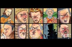 The 10 worst Britons in history -Illustrations by Jonty Clark