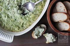 Gluten-free Creamy Artichoke Spinach Dip that's ready in minutes. Just blend the ingredients and bake (and then devour)!