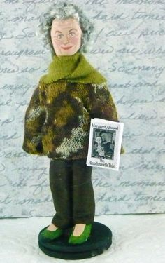 Margaret Atwood Miniature Doll Canadian Writer by UneekDollDesigns