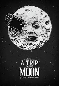 a trip to the moon, a trip to the moon poster, movie lover gift, vintage movie, old movie, retro movie, french movie, sci-fi, science fiction, moon, moon decor, film poster, classic movie poster, movie quote, minimal movie poster, film icon, le voyage dans la lune, home decor, wall art, wall hanging, french movie, silent film, black and white, film buff, cinema, man in the moon, trip to the moon, most sold items, best selling items, vintage film