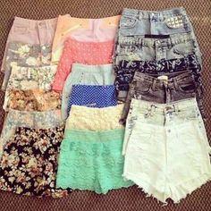 Shorts altos.
