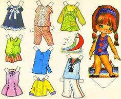 Kathleen Taylor's Dakota Dreams: Thursday Tab- Victoria, Spanish Dolls from 1979 Paper Art, Paper Crafts, Decoupage, Paper Dolls Printable, Vintage Paper Dolls, Crochet Bunny, Retro Toys, Sweet Memories, Childhood Memories
