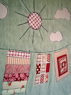 Washing line - fun way to use fabric scraps!