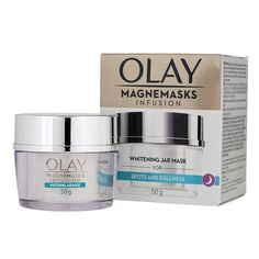 Olay Magnemasks Infusion Whitening jar Mask 50g. Vitamin A Acne, Skin Care Cream, Face Skin Care, Cotton Pads, Skin Brightening, Olay, Glowing Skin, How To Know, Whitening