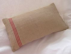 Handmade Burlap Hessian Cushion by VictoriasAttick on Etsy, $19.00