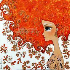 romina lerda - Buscar con Google Art And Illustration, Karla Gerard, Indigenous Art, Art Journal Pages, Whimsical Art, Art Plastique, Fabric Painting, Face Art, Mixed Media Art