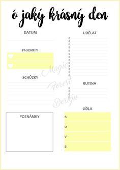 Sada - modrá #daily #planner #diary #diář #plánovací #plánovač  Chcete si hezky… Organization Hacks, School Supplies, Life Hacks, Addiction, Self, Love You, Bullet Journal, Education, How To Plan