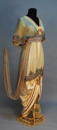 Beautiful Evening Gown, 1914, designed by Lady Duff Gordon.