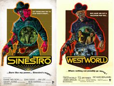 "DC Comics March 2015 Covers Pay Homage To Classic Movie Posters - ""SINESTRO #11 inspired by WESTWORLD, with cover art by Dave Johnson"""