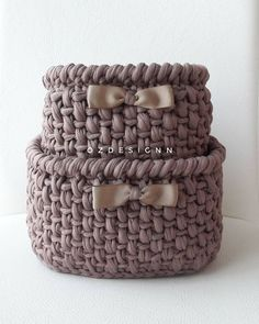Kate's Crochet World Crochet Home, Love Crochet, Crochet Gifts, Crochet Yarn, Yarn Projects, Crochet Projects, Crochet Storage, Knit Basket, Crochet Decoration