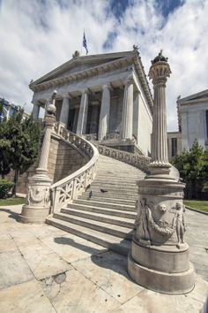 Greek National Library, Athens, Greece * Repinned by www.smg-treppen.de #smgtreppen ★