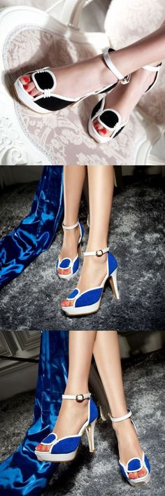 Magic Iron Wedge Shoes Special Occasion Strap Heels Shoes High Heel Waterproof…