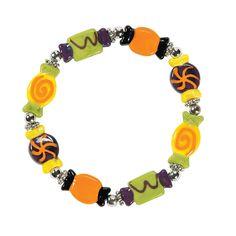 Halloween Candy Lampwork Bracelet Kit - OrientalTrading.com