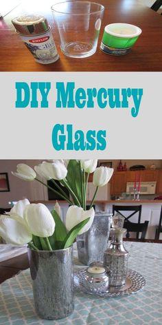 DIY Mercury Glass from Dollar Store Items
