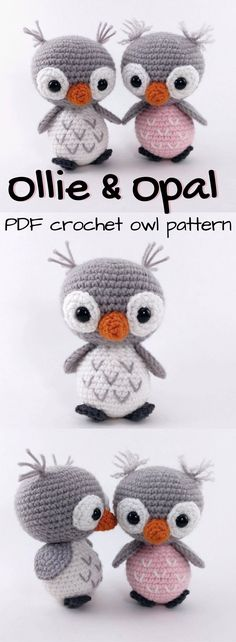 I LOVE LITTLE OWLS!!! Look at these adorable baby owl amigurumis! Perfect little crochet pattern to make a quick stuffed toy gift for a child! ADORABLE!!! #etsy #ad #pdf #instantdownload #crochetpattern