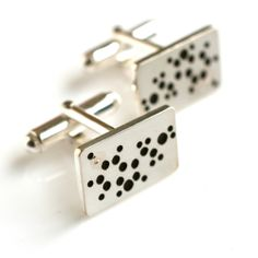 Let your man know how much happiness he has brought into your lives together with these Serotonin Cufflinks - the molecule of happiness.  By @emilyalice