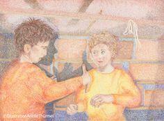 Illustration Arielle Thürmel - Lebendig erzählte Kunstgeschichten laden Kinder ein, die Welt der Kunst aus einem neuen spannenden Blickwinkel kennen zu lernen. #kunstgeschichteneuerleben #giottodibondone #giottoblog #giotto www.kunstgeschichten.net
