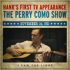 Hank Williams was born to perform. #ISawTheLight