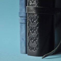 Blue By Stecca d'osso - complex leather longstitch binding