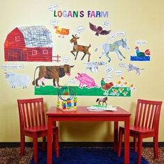 Oopsy daisy Eric Carle, 's Farm Peel and Place Childrens Wall Decals by Eric Carle, 54 by 60-Inch *** Check this awesome product by going to the link at the image.