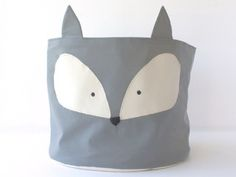 Cesto de tela Fox Wall Storage, Toy Storage, Casa Retro, Baby Box, Fabric Bags, New Product, Diy And Crafts, Reusable Tote Bags, Baby Shower