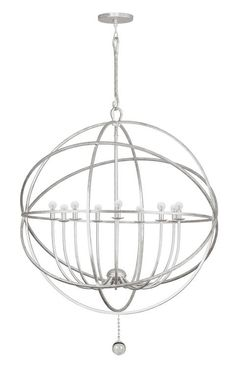 Crystorama 9229-OS Solaris 9 Light Silver Sphere Chandelier