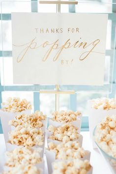 From florals on the staircase to foliage covering the sweet table, this Midsummer Night's Dream wedding somehow ended up effortlessly ethereal. Wedding Food Catering, Wedding Appetizers, Wedding Reception Food, Wedding Keepsake Boxes, Wedding Keepsakes, Popcorn Wedding Favors, Wedding Favours, Wedding Gift Inspiration, Wedding Ideas