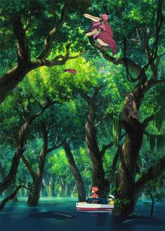 """The rescue"", Ponyo, Studio Ghibli Hayao Miyazaki, Totoro, Art Studio Ghibli, Studio Ghibli Movies, Personajes Studio Ghibli, Studio Ghibli Background, The Garden Of Words, Japanese Film, Howls Moving Castle"
