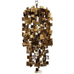 Cascading Brutalist Pendant Chandelier from Lewis Trimble decorative arts & antiques
