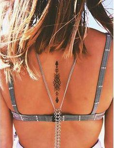 Belagoria | la web de los tatuajes : Tatuajes femeninos para la columna vertebral