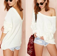 $28.00 | Sexy strapless halter loose sweater CS1104BB