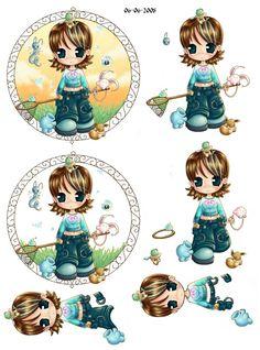knipvel meisje 3d Paper, Paper Crafts, Ribbon Crafts, Fancy Fold Cards, Folded Cards, 3 D, Christmas Sheets, Image 3d, 3d Sheets