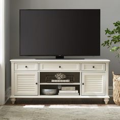 Home Decorators Collection Hamilton 26 in. Polar White TV Stand 9787800410 - The Home Depot Bedroom Tv Stand, Tv In Bedroom, Bedroom Dressers, Large Tv Stands, White Tv Stands, Living Room Tv, Home And Living, Tv Stand Ideas For Living Room, White Tv Unit